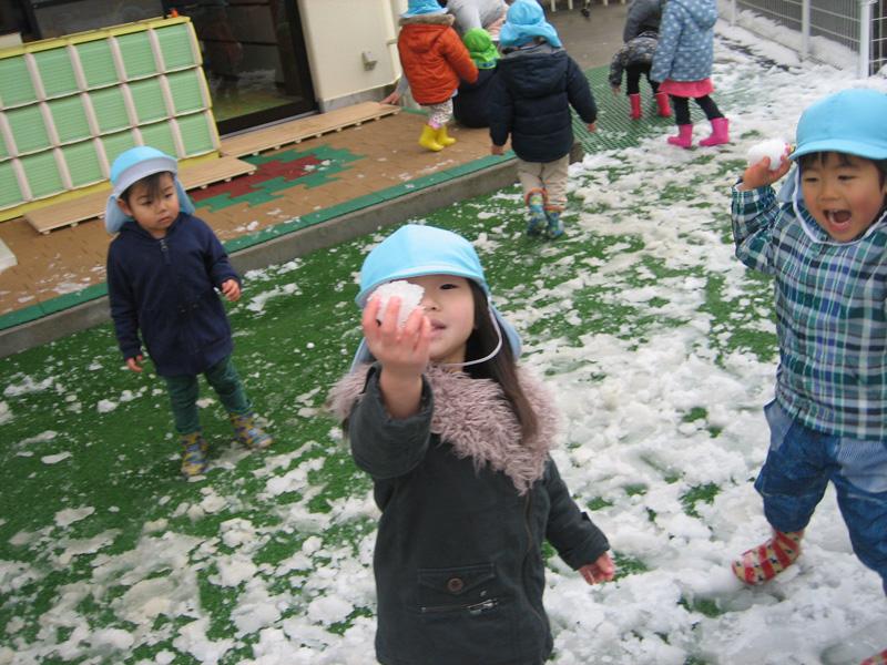 雪遊び  ①